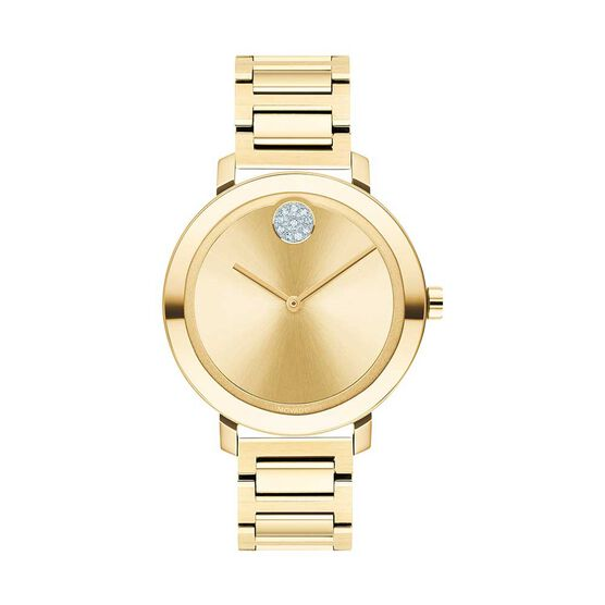 Movado Bold Yellow Ion & Crystal Watch