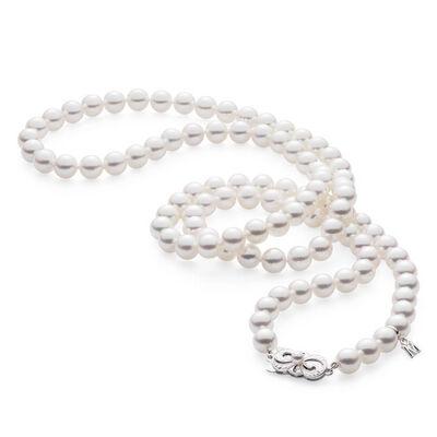 "Mikimoto Akoya Cultured Pearl Strand Necklace 18K, 32"""