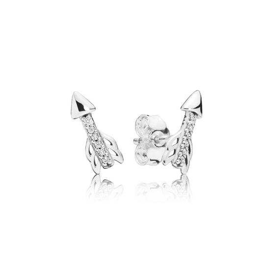PANDORA Sparkling Arrows CZ Earrings