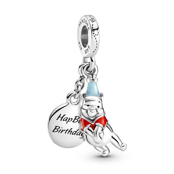 Pandora Disney Winnie the Pooh Birthday Enamel Dangle Charm