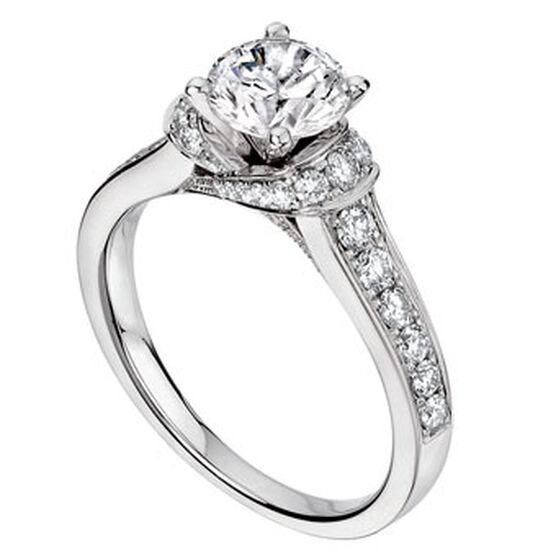 Scott Kay Embrace Diamond Semi-Mount Ring 14K