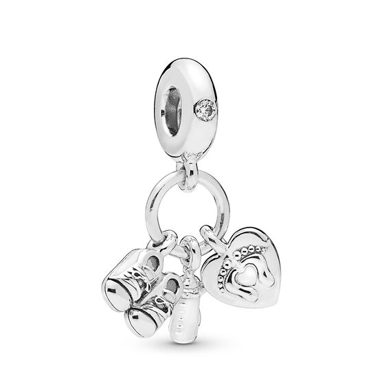 Pandora My Little Baby Dangle CZ & Enamel Charm