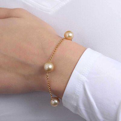 Golden South Sea Pearl Bracelet 14K