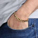 Men's Flat Curb Bracelet 14K