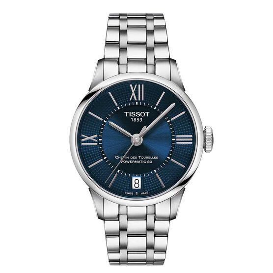 Tissot Chemin Des Tourelles Powermatic 80 Blue Dial Ladies Watch, 32mm