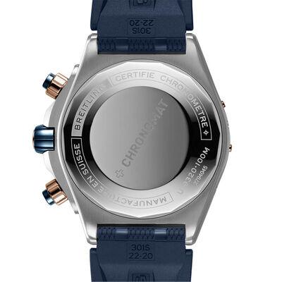 Breitling Super Chronomat 44 Four-Year Blue Watch, 18K & Steel