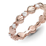 Pandora Rose™ Sparkling CZ Seashell Band Ring