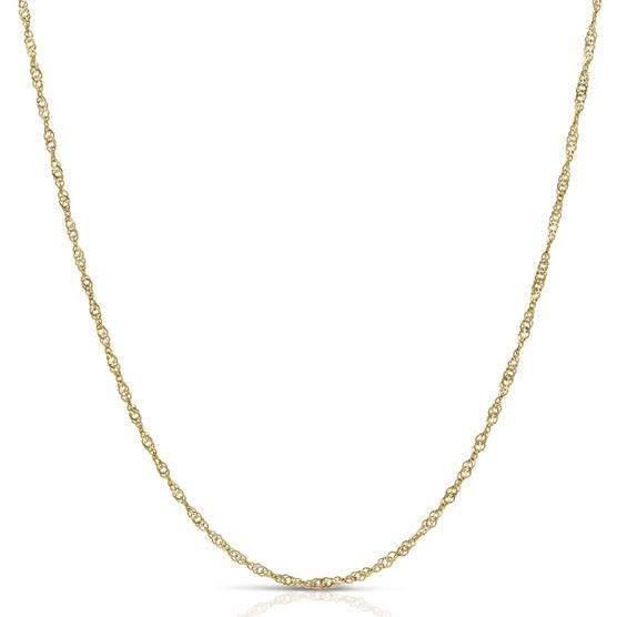 "Singapore Chain Necklace 14K, 30"""