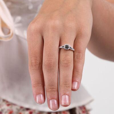 Black & White Diamond Ring 14K