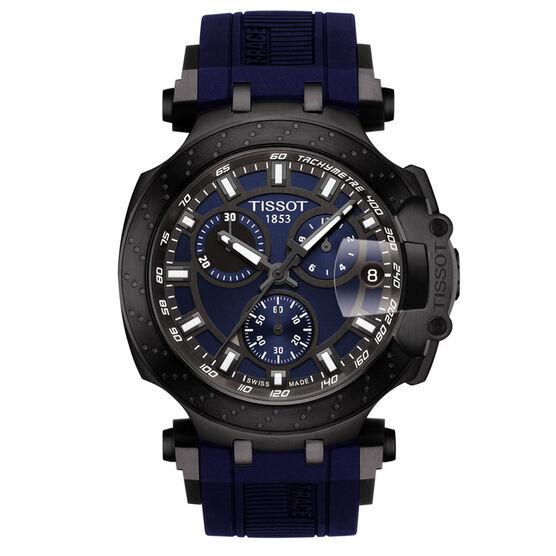 Tissot T-Race Chronograph Gray & Black PVD Blue Dial Watch, 43mm