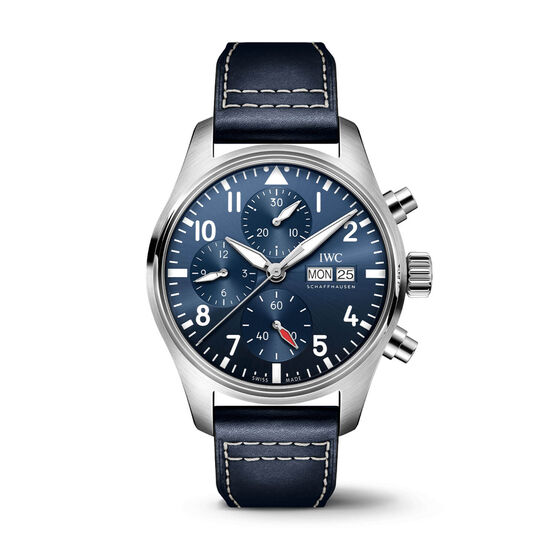 IWC Pilot's Watch 41 Blue Dial Leather Chronograph, 41mm