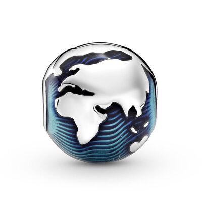 Pandora Blue Globe Clip Enamel Charm