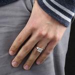 Men's Square Pavé Diamond Ring 14K