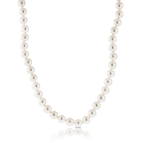 """Akoya Cultured Pearl Necklace 8mm, 14K, 18"""""""