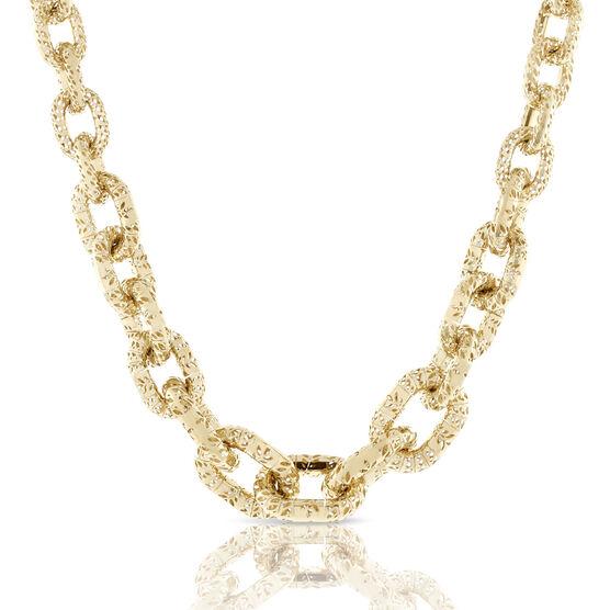 Toscano Openwork Chain Necklace 18K