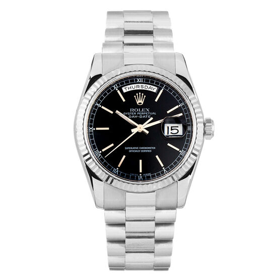 Pre-Owned Rolex Oyster Perpetual Day Date Watch, 36mm, 18K