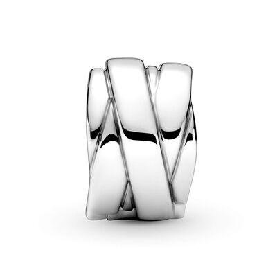 Pandora Polished Ribbons Clip Charm
