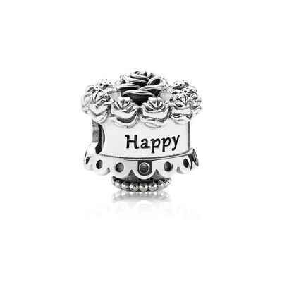 PANDORA Happy Birthday Cake Charm