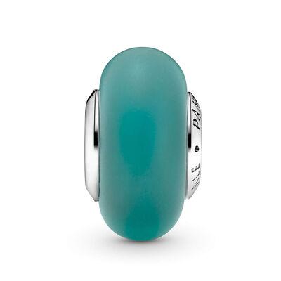Pandora Matte Green Murano Glass Charm