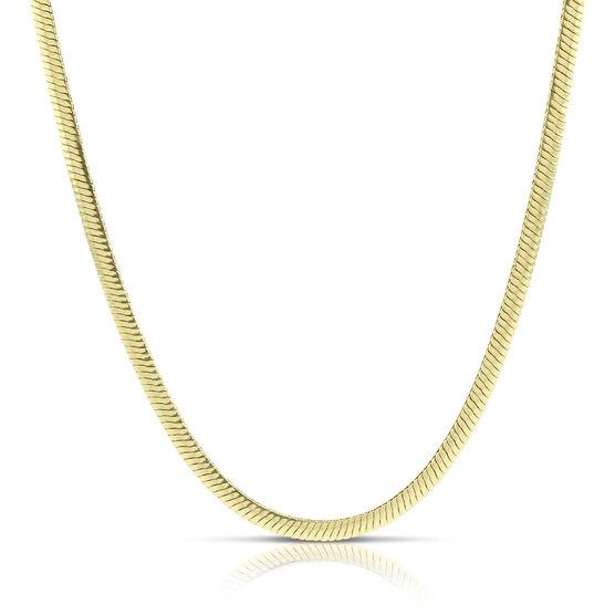 "Toscano Reversible Herringbone Necklace 14K, 18"""
