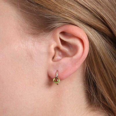 Cabochon Peridot Earrings 14K