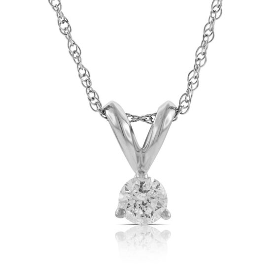 Diamond Solitaire Pendant 14K, 1/7 ctw.