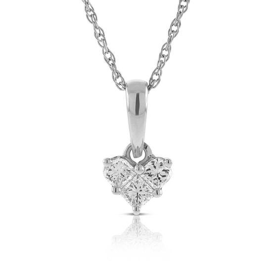 Mini Heart Diamond Pendant 14K