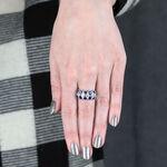 Beaded Twist Sapphire & Diamond Ring 14K