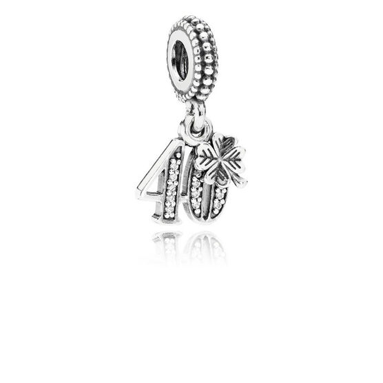 PANDORA 40 Years of Love CZ Charm