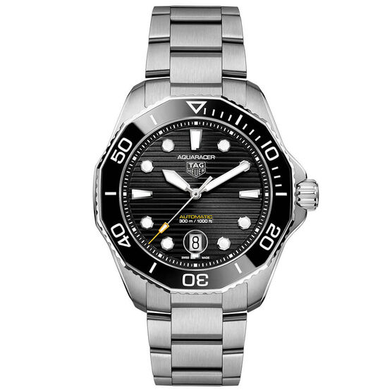 TAG Heuer Aquaracer Professional 300 Black Steel Watch, 43mm