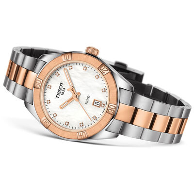 Tissot PR 100 T-Classic Sport Chic Diamond Watch