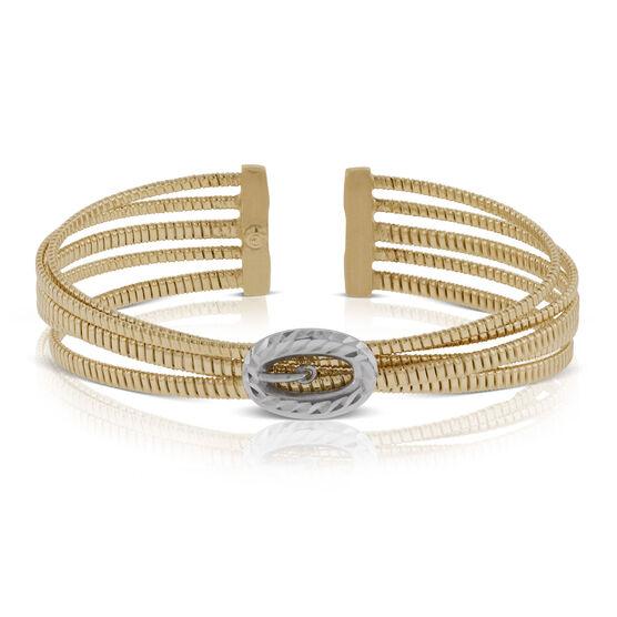Toscano Cuff Bracelet 14K