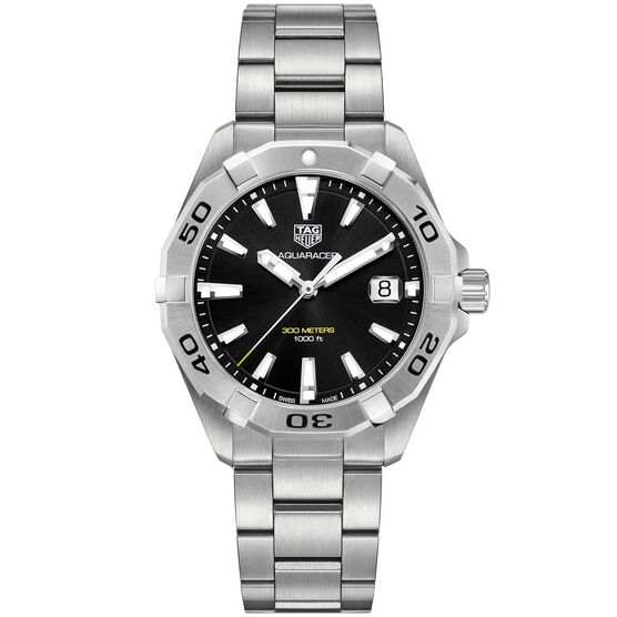 TAG Heuer Aquaracer Quartz Mens Black Steel Watch