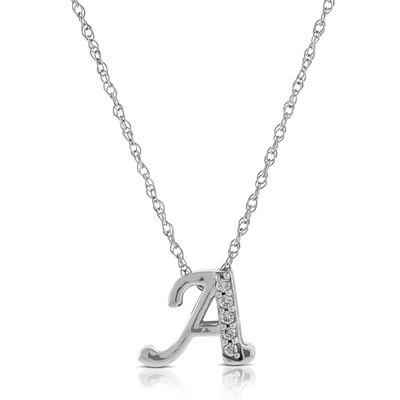 Initials ben bridge jeweler diamond a initial pendant 14k aloadofball Choice Image