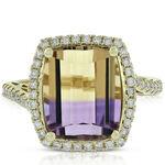 Ametrine & Diamond Ring  14K