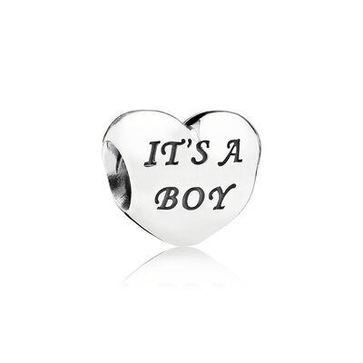 PANDORA Baby Boy CZ Heart Charm