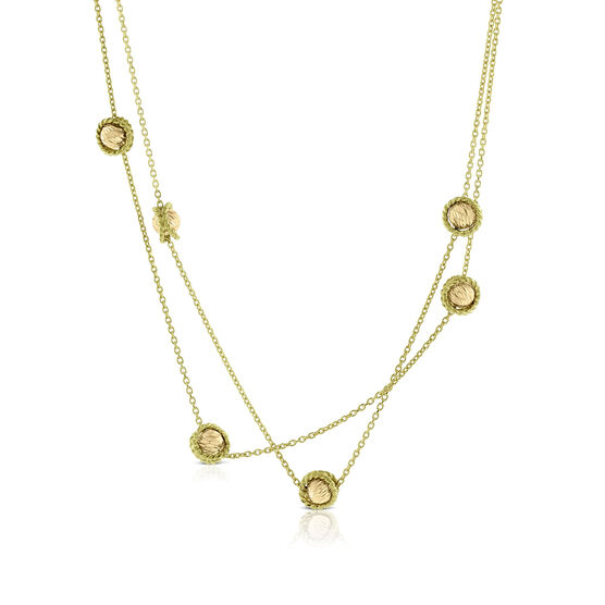 Toscano Station Necklace 14K, 32""