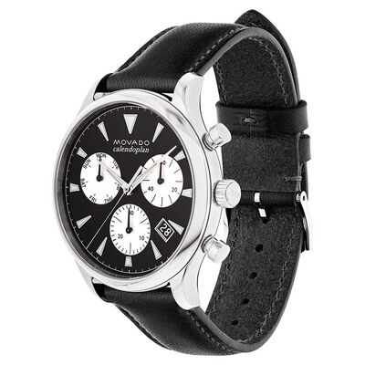 Movado Heritage Calendoplan Chronograph Strap Watch