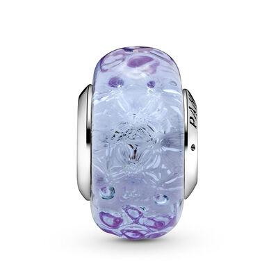 Pandora Wavy Lavender Murano Glass Charm
