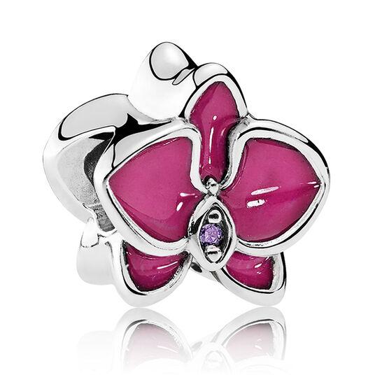 PANDORA Enamel Orchid & Purple CZ Charm