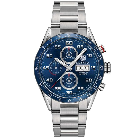 TAG Heuer Carrera Calibre 16 Mens Blue Steel Chronograph Watch