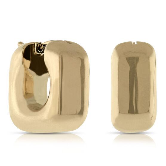 Toscano Square Hoop Earrings 14K