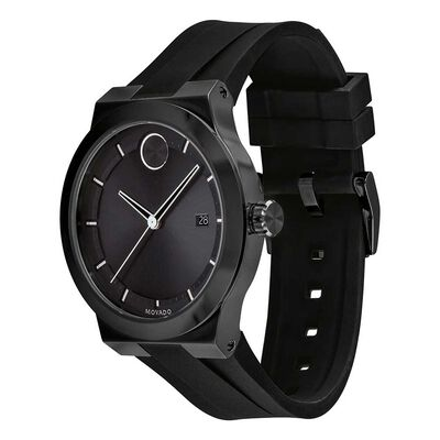 Movado Bold Black Ion & Ceramic Watch