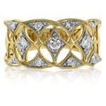 Filigree Diamond Band 14K