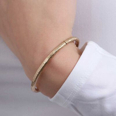 Toscano Roman Hammered Bangle 14K