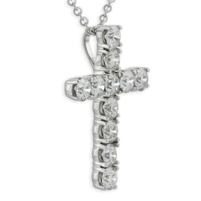 Ikuma Canadian Diamond Cross Pendant 14K