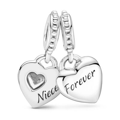 Pandora Aunt & Niece Split Heart Dangle Charm