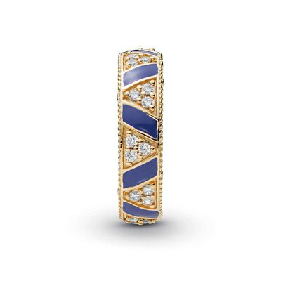 Pandora Shine™ Exotic Stones & Stripes Enamel & CZ Ring