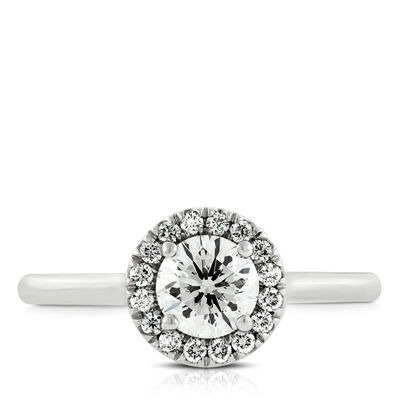 Signature Forevermark Diamond Halo Ring 18K
