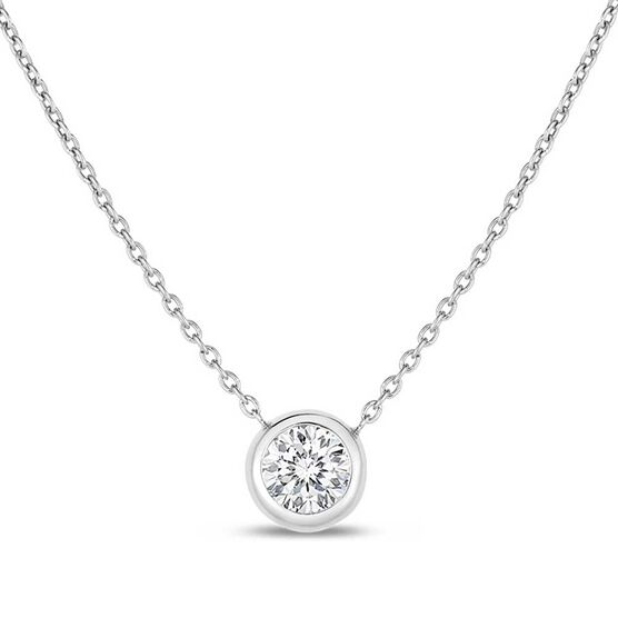 Roberto Coin Diamonds by the Inch Single Station Diamond Necklace 18K